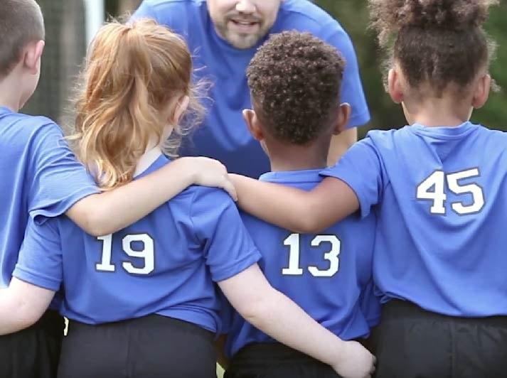 team coach for kids' sports team